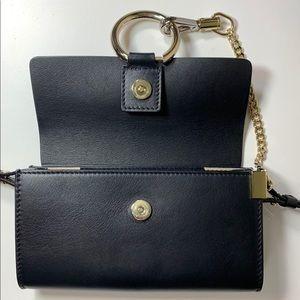 Chloe Bags - Chloe Mini Faye Black Leather Wallet on Chain